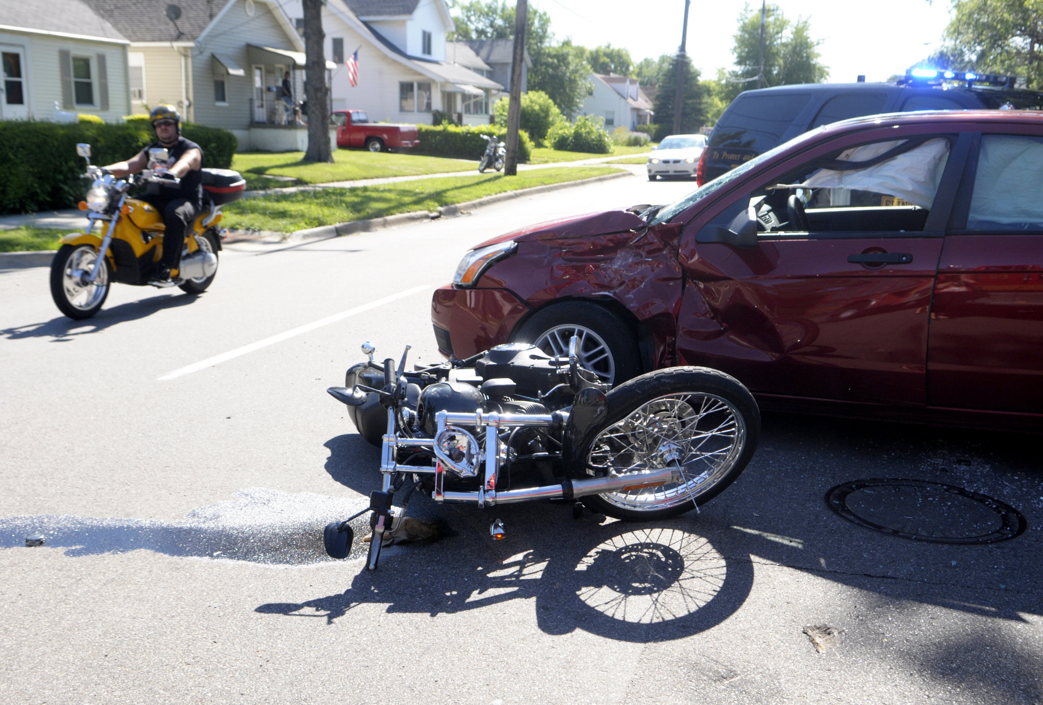 motorcycle accident claim in Ontario